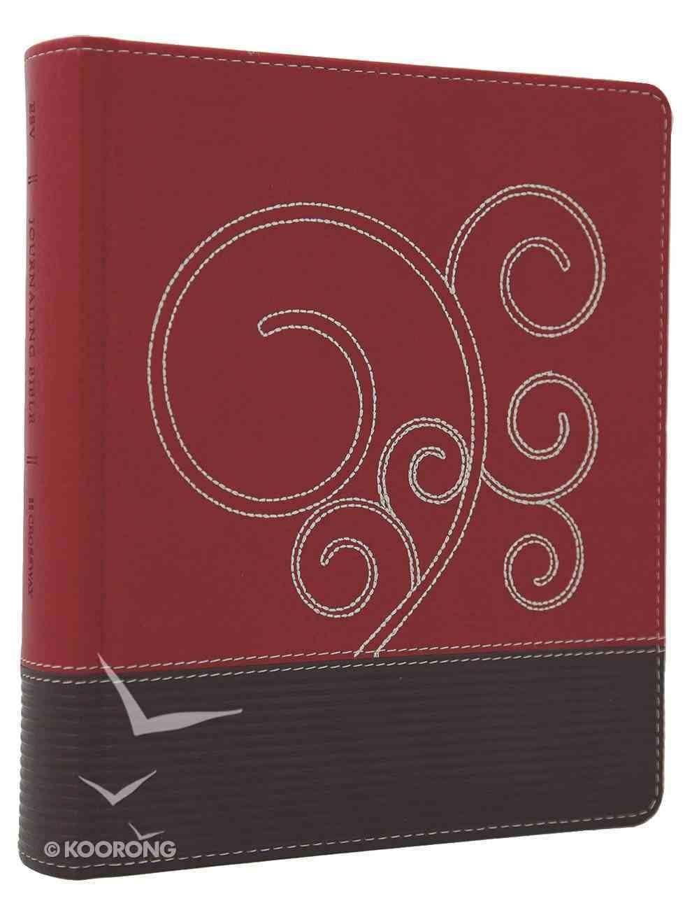 ESV Journaling Bible Raspberry Chocolate Flourish Imitation Leather