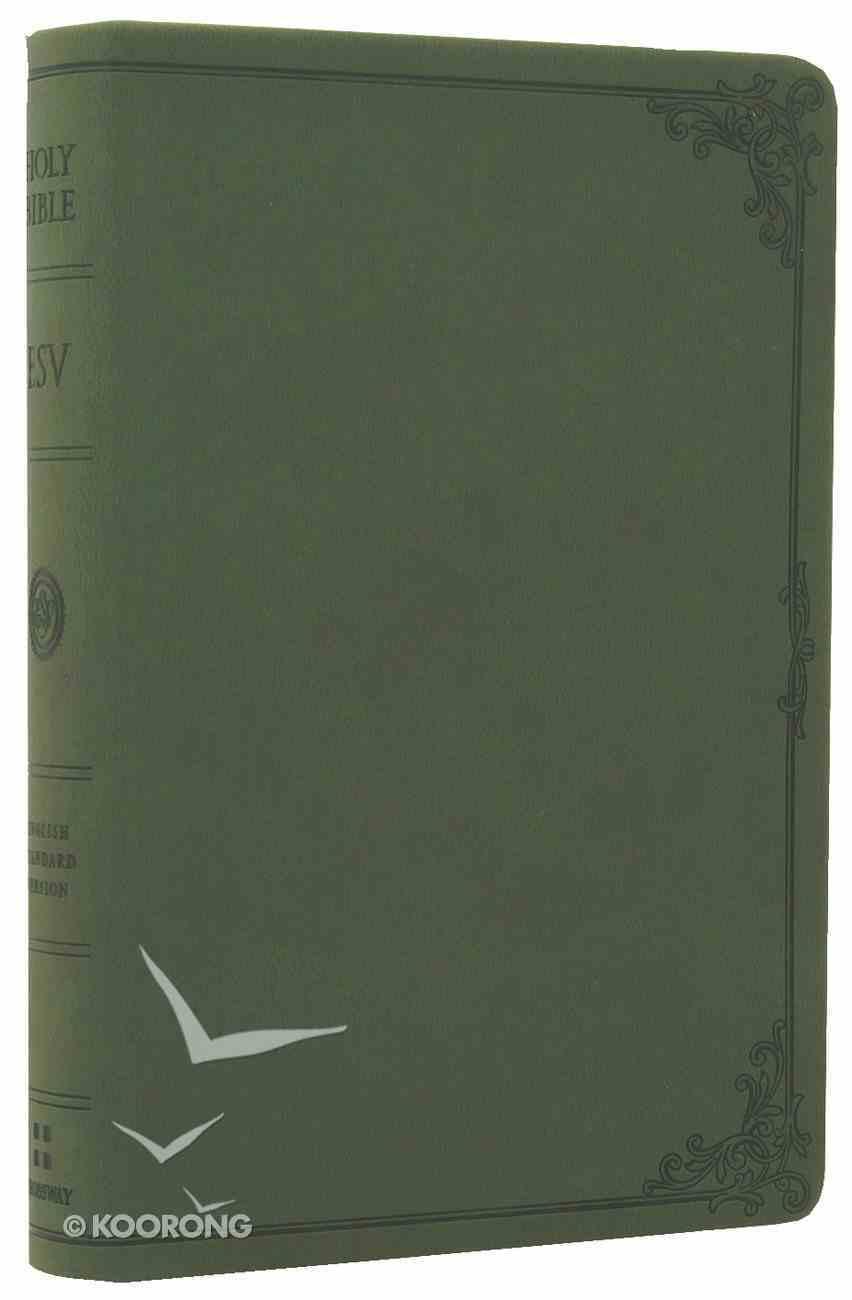 ESV Compact Bible Avocado Frame Design Imitation Leather