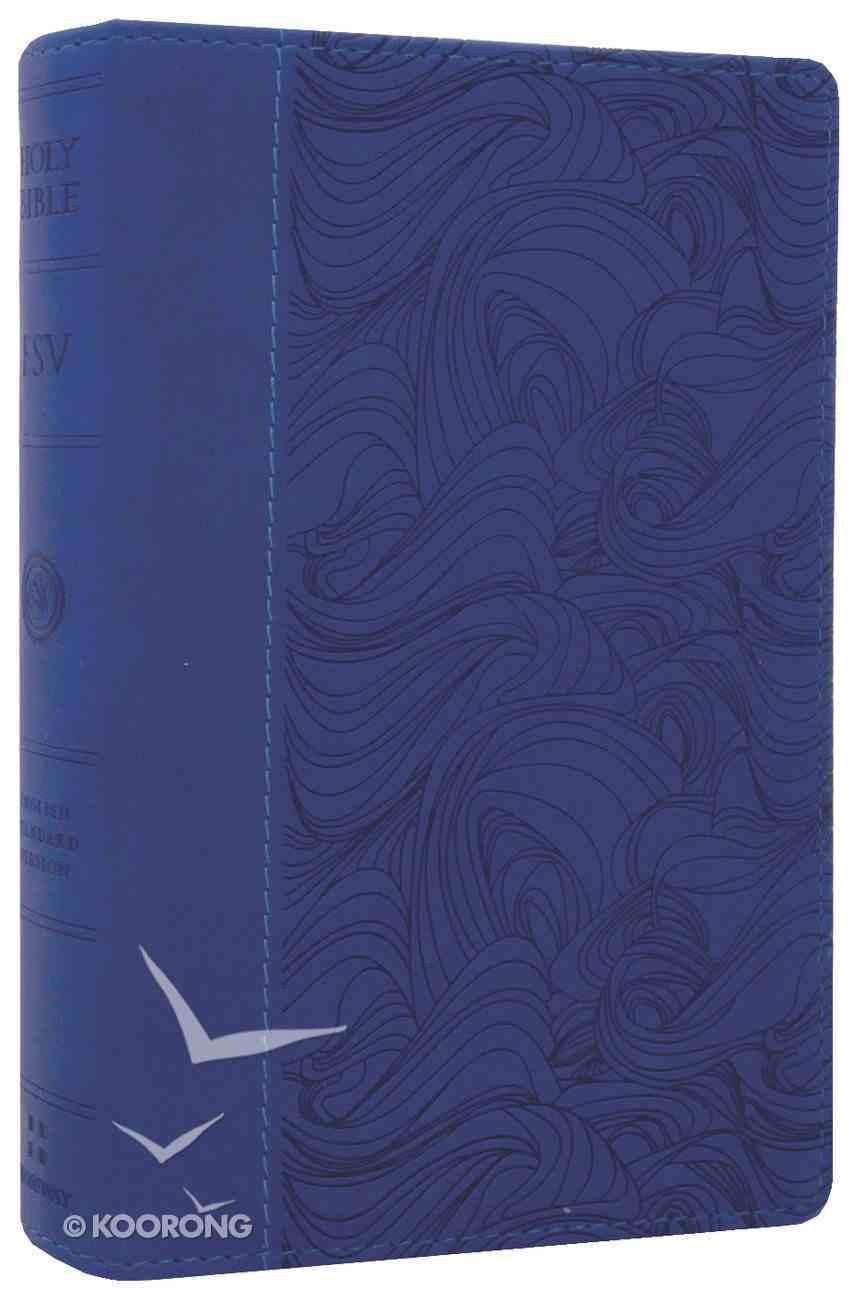 ESV Compact Bible Deep Blue Waves Design Imitation Leather