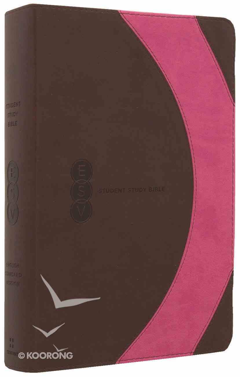 ESV Student Study Bible Brown/Pink Arc Imitation Leather