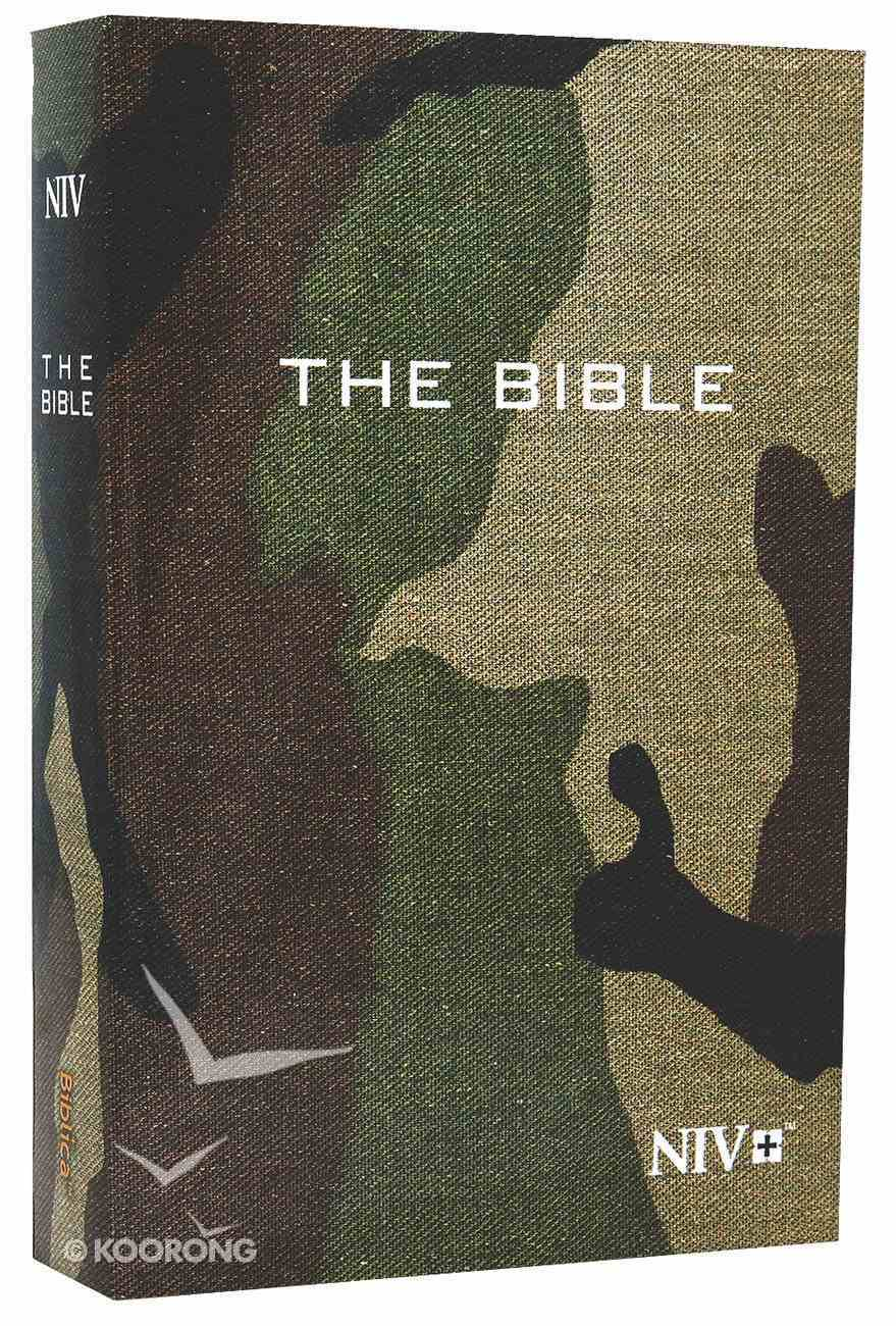 NIV Compact Bible Green Camouflage (Black Letter Edition) Paperback