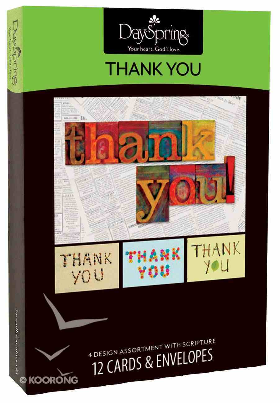 Boxed Cards Thank You: Many Blessings Box