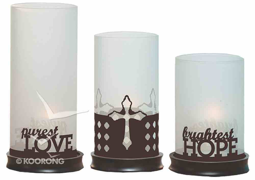 Trio Hurricane Candle Holder: Now With 2 Sets of Sleeves, Christmas & All Year Round Homeware