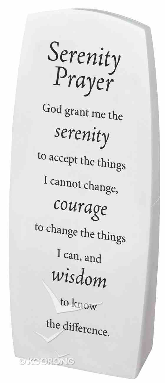 Resin Desk Top Decor: Serenity Prayer Homeware