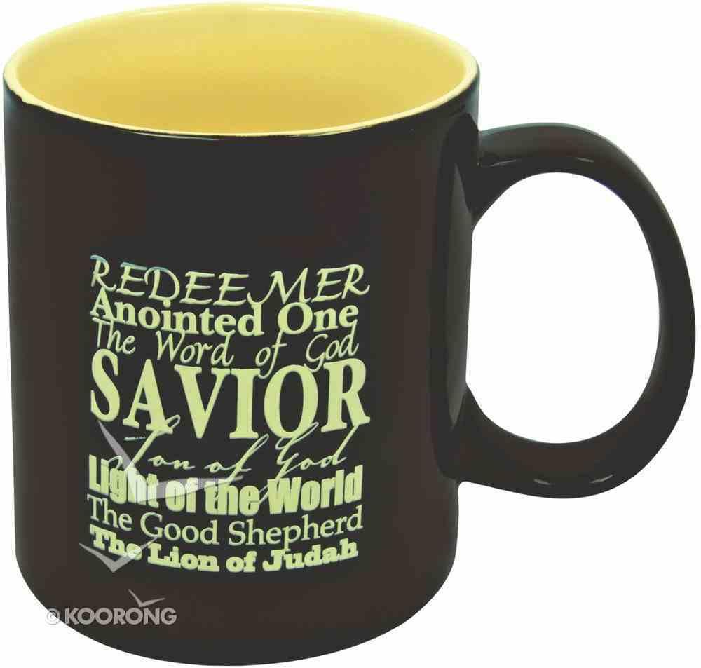 Stoneware Mug: Redeemer, Anointed One Brown/Mustard Homeware