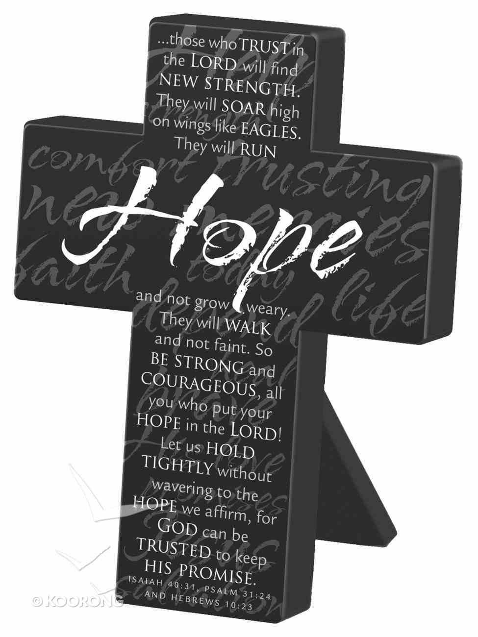 Mini Metal Message Cross: Hope Various Scriptures, Black Homeware