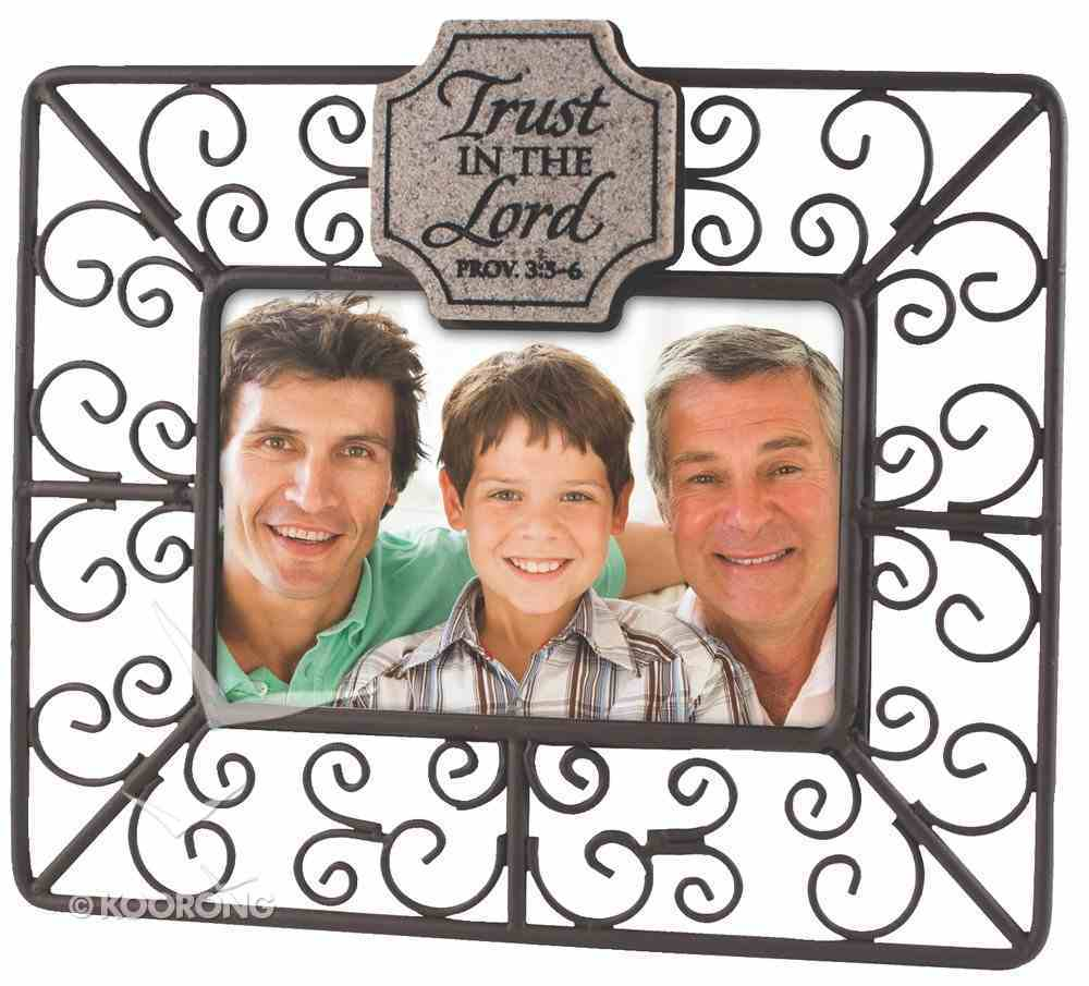 Wire Photo Frame: Trust in the Lord, Proverbs 3:5-6 Plaque