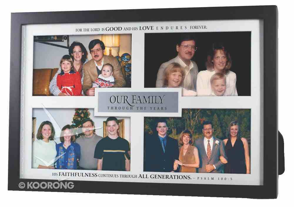 Photo Frame: Our Family, Psalm 100:5, Holds 4 Photos Homeware