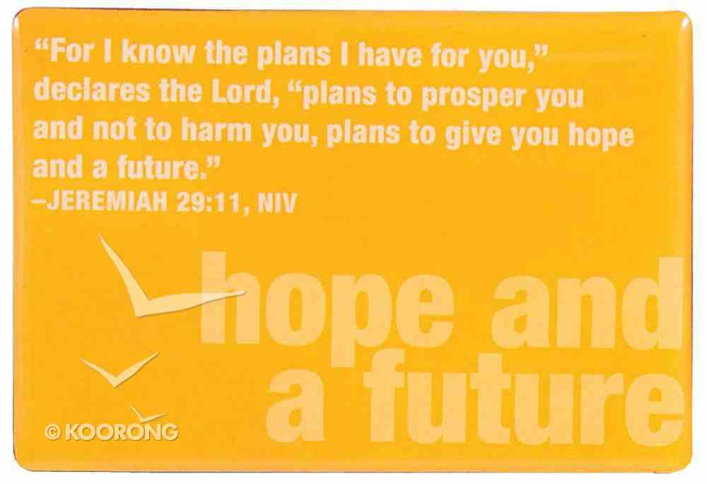 Bold Word Magnet: Hope and Future, Yellow Homeware