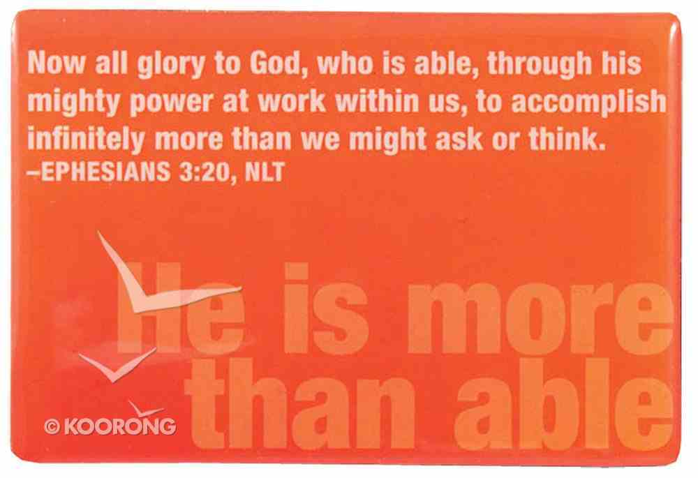 Bold Word Magnet: He is More Than Able, Orange Homeware