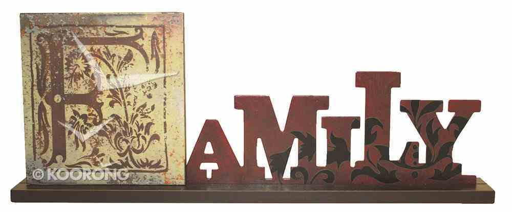 Mdf Standing Sign: Family Homeware