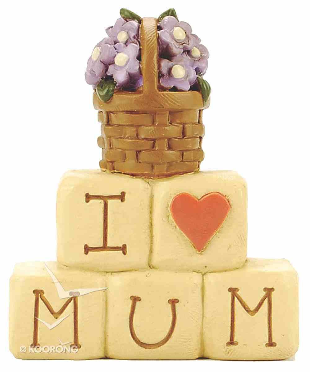 Blossom Bucket: I Love Mum Block Homeware