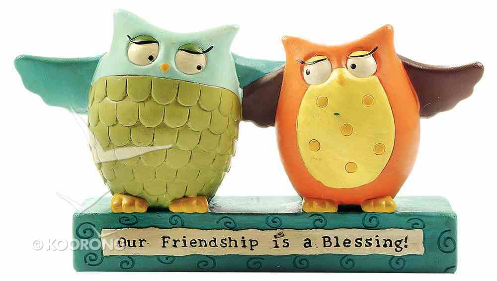 Blossom Bucket Owl: Our Friendship is a Blessing Homeware