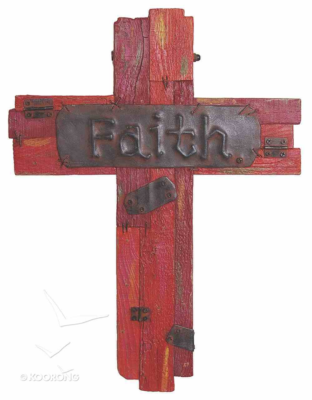 Cross: Faith, Red Polyresin Homeware