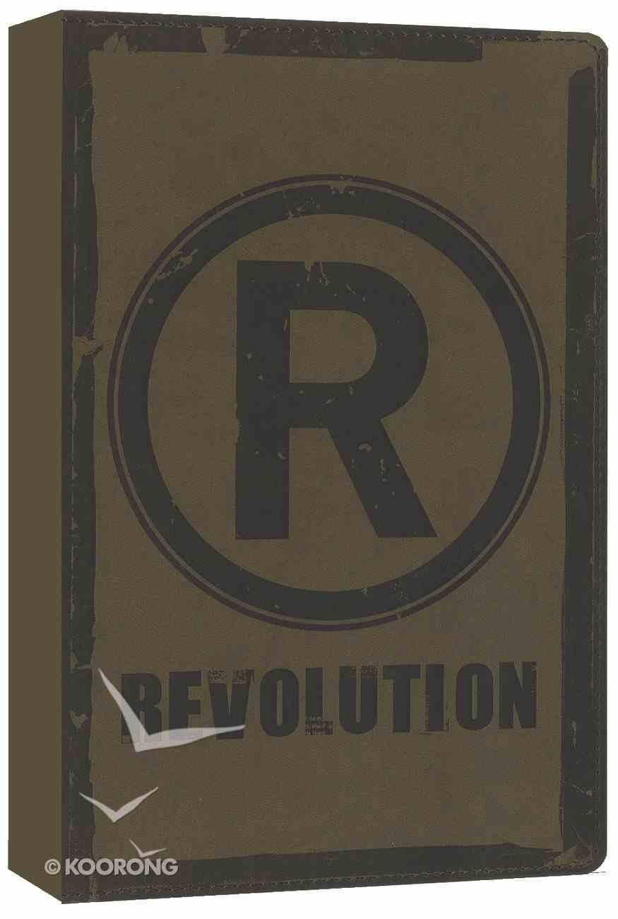 NIV Revolution Bible Teen Guys Saddle Brown Duo-Tone Imitation Leather