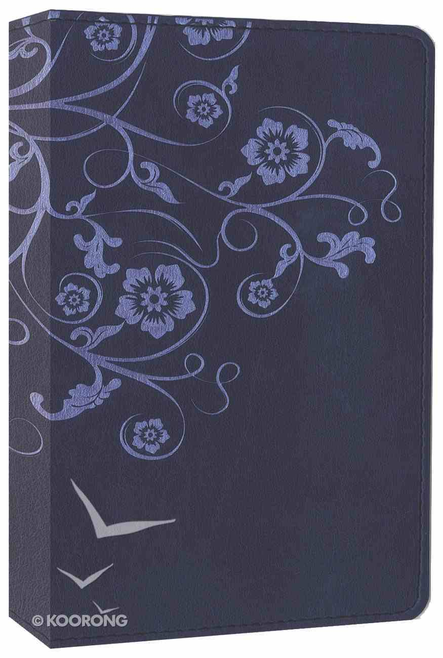 NIV Compact Thinline Bible Flora and Fauna Flower/Vine Marina Blue (Red Letter Edition) Imitation Leather