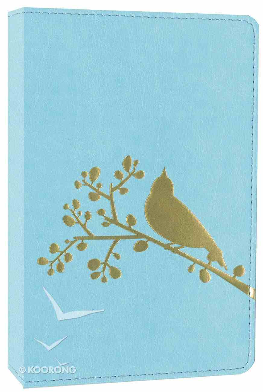 NIV Compact Thinline Bible Flora and Fauna Song Bird Turquoise (Red Letter Edition) Imitation Leather