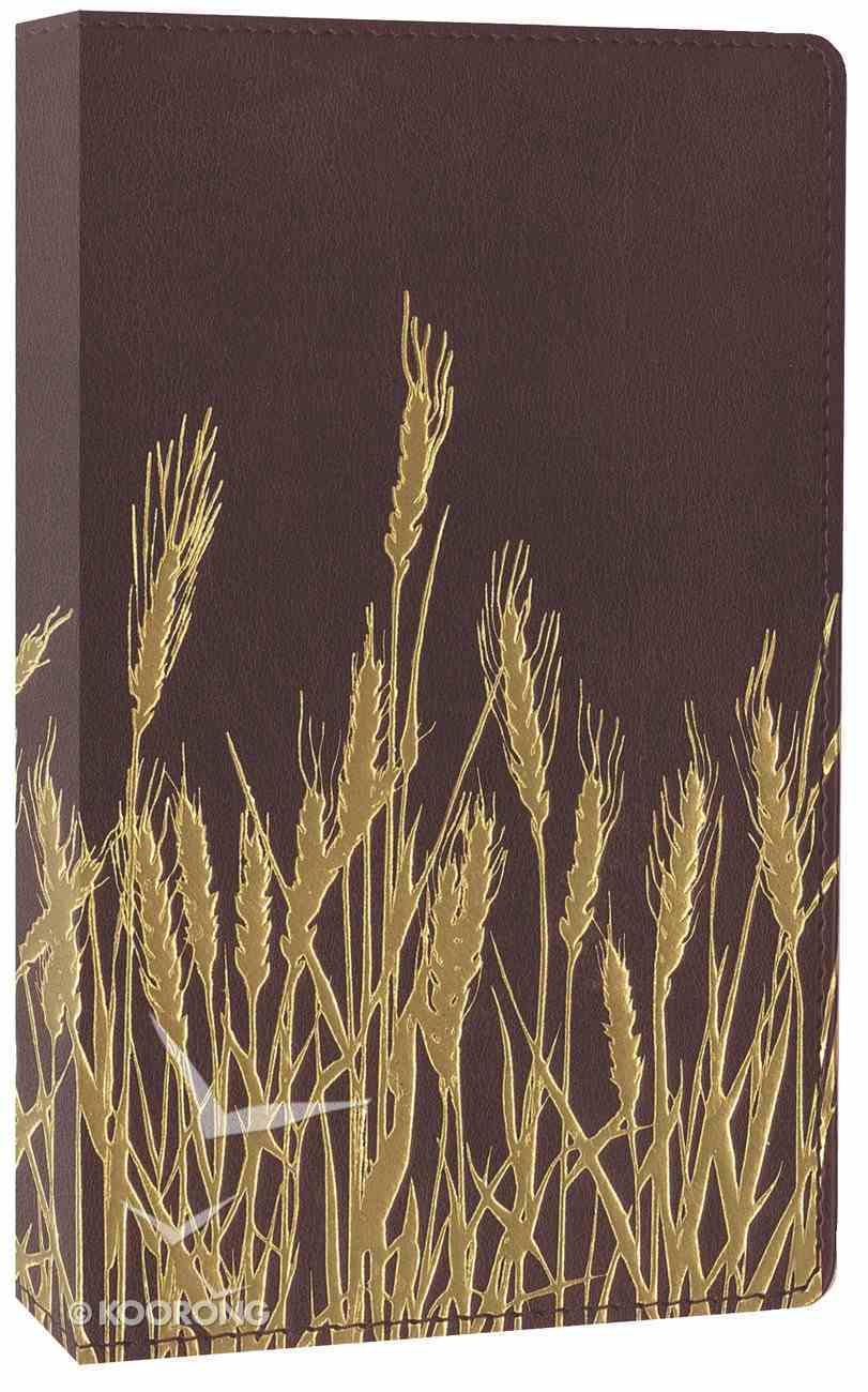 NIV Thinline Bible Flora and Fauna Burgundy Gold/Wheat (Red Letter Edition) Imitation Leather