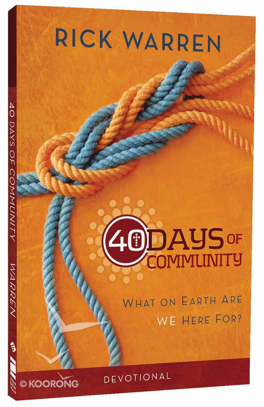 40 Days of Community: Better Together (Devotional Journal) Paperback