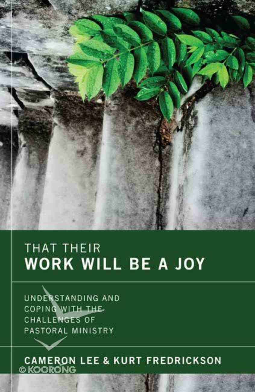 That Their Work Will Be a Joy eBook
