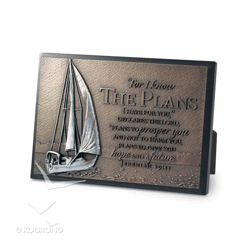 Small Moments of Faith Plaque Sailboat the Plans Plaque