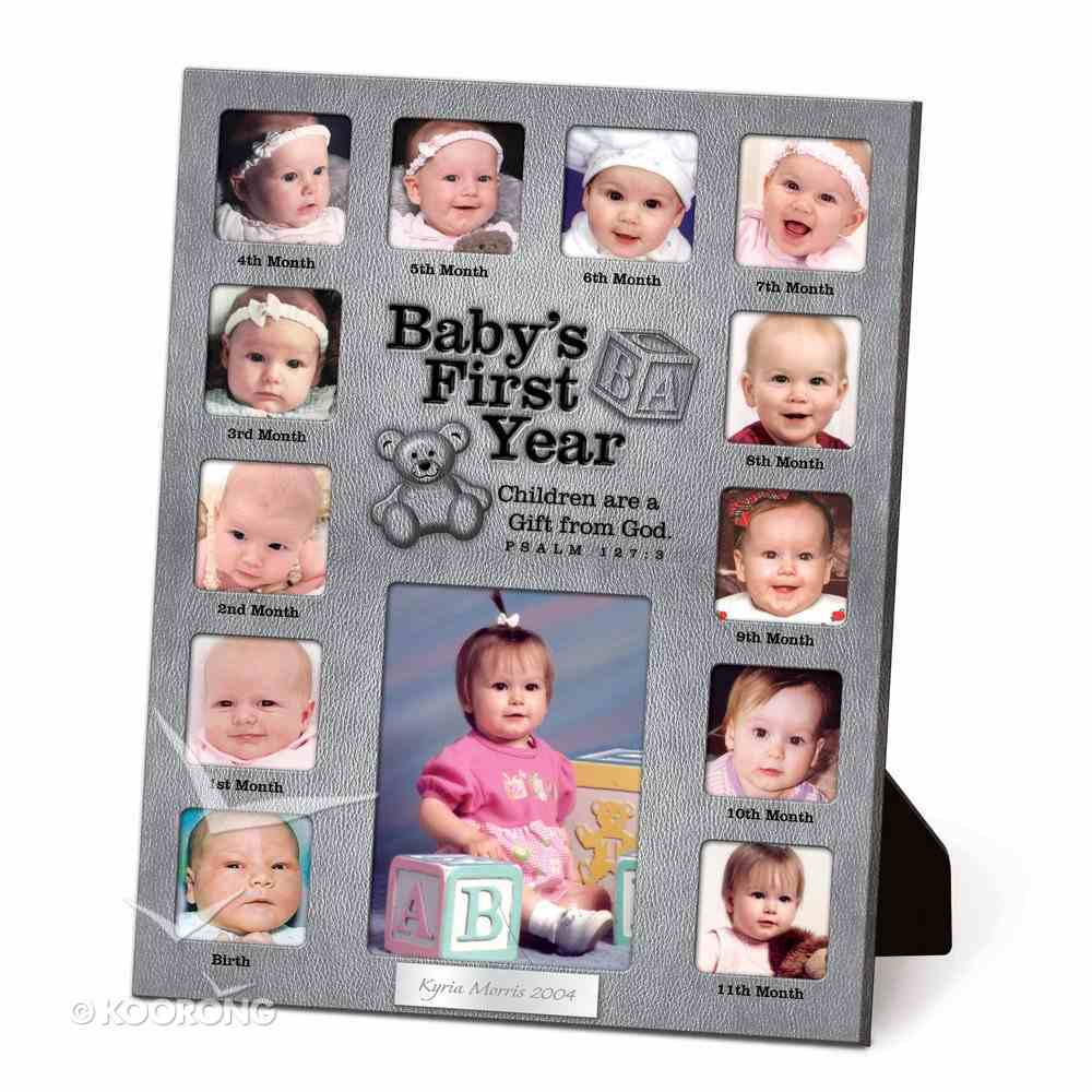 Photo Frame Collage Pewter: Baby's First Year Psalm 127:3 Homeware