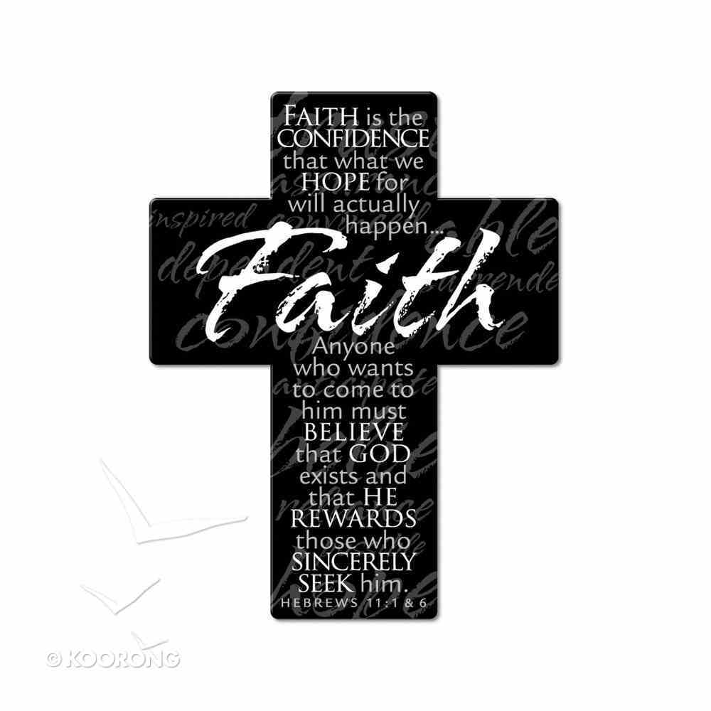 Mini Metal Cross Magnet: Faith Homeware