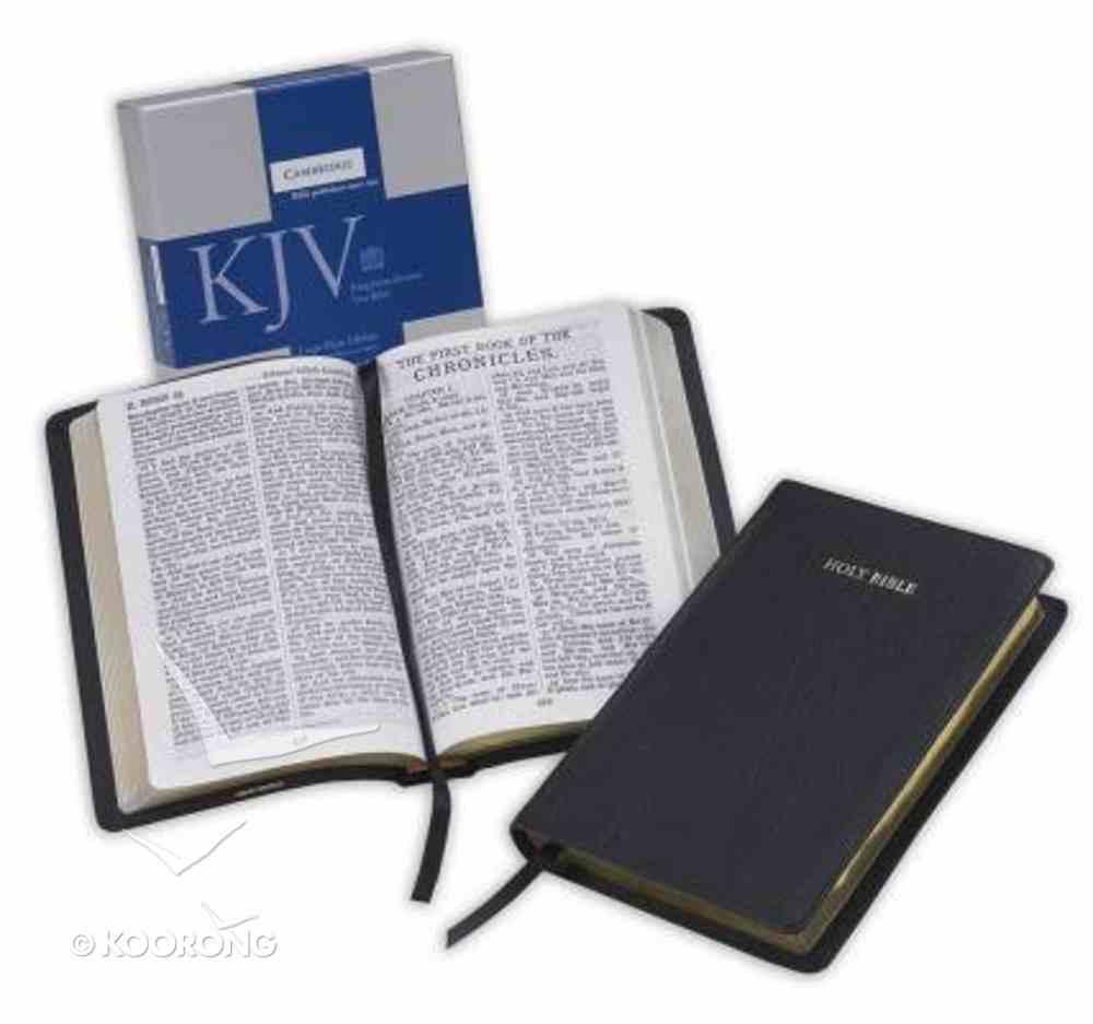 KJV Large Print Black (Black Letter Edition) Morocco Leather (Sheepskin)