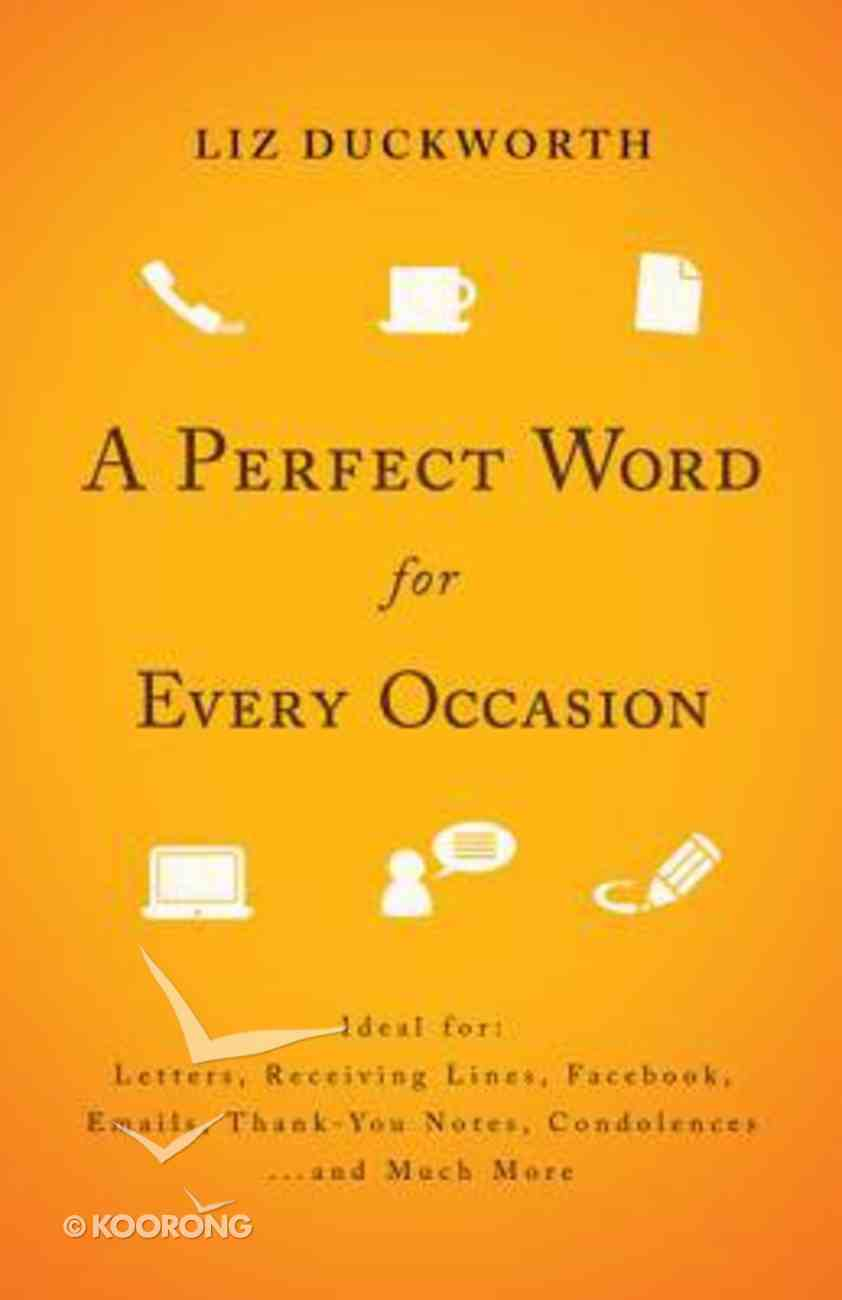A Perfect Word For Every Occasion Paperback