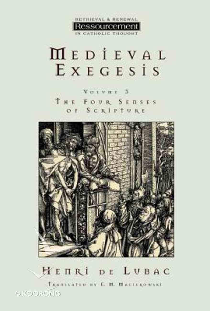 Medieval Exegesis Paperback