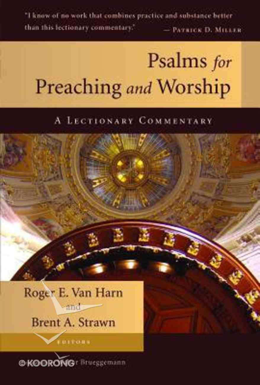 Psalms For Preaching & Worship Paperback