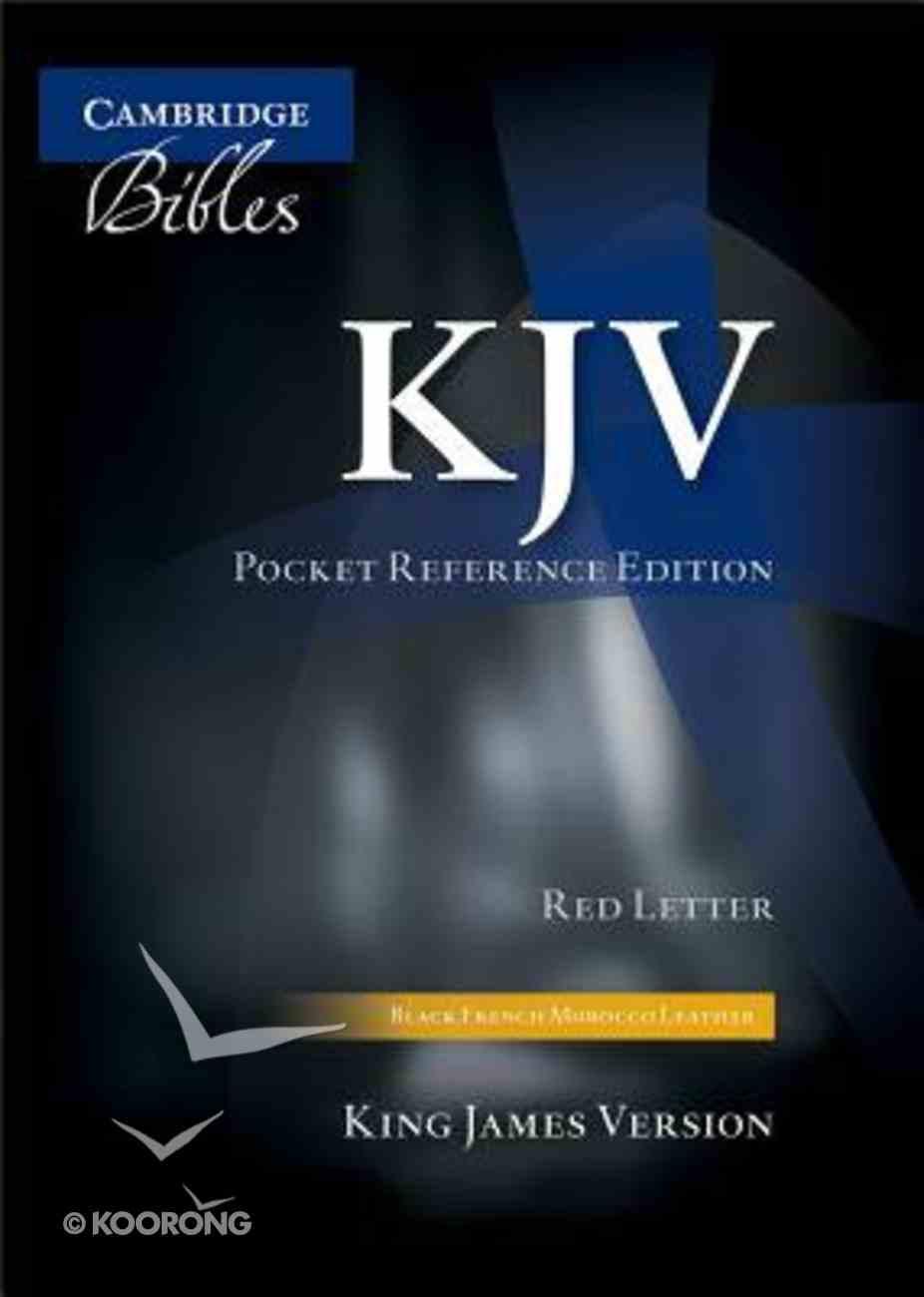 KJV Pocket Reference Edition Black Indexed (Red Letter Edition) Morocco Leather (Sheepskin)