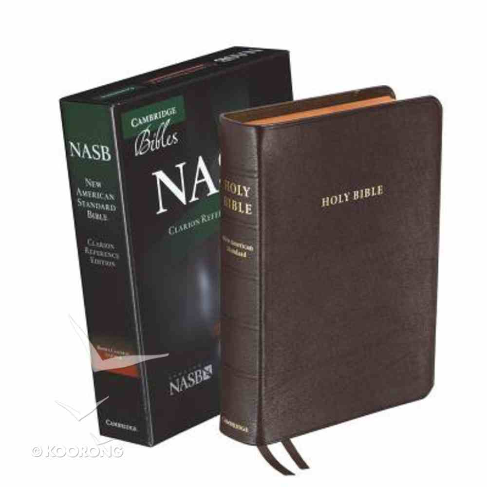NASB Clarion Reference Bible Brown Genuine Leather