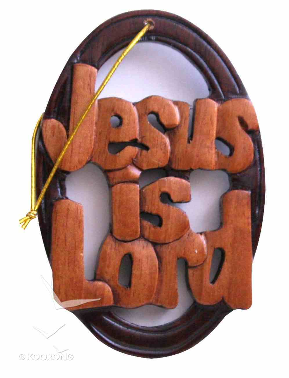 Carved Sign: Jesus is Lord (Mahogany) Plaque