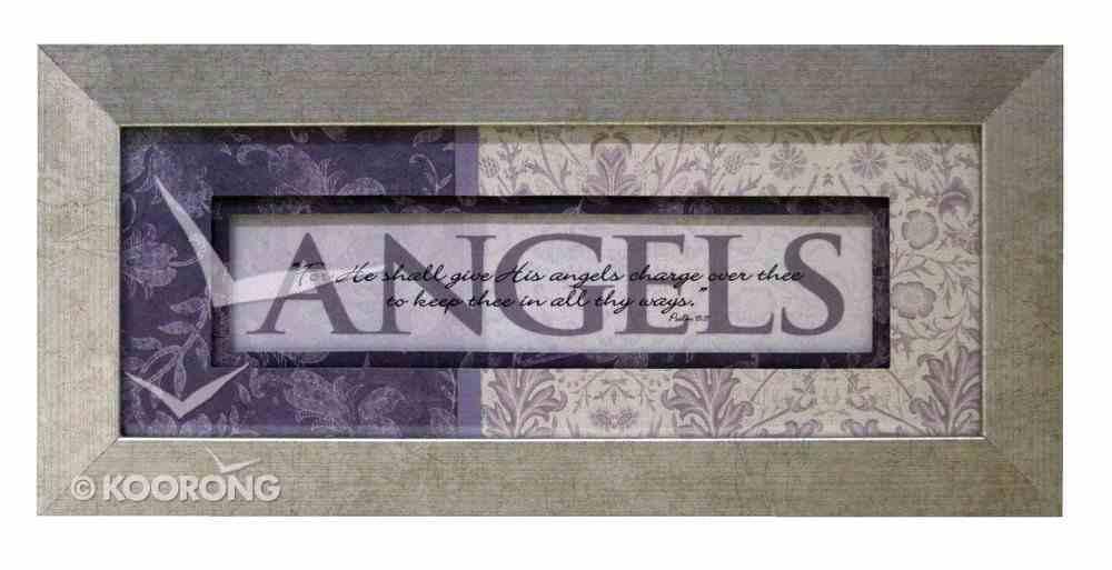 Keepsake Mdf Framed Art: Angels Plaque