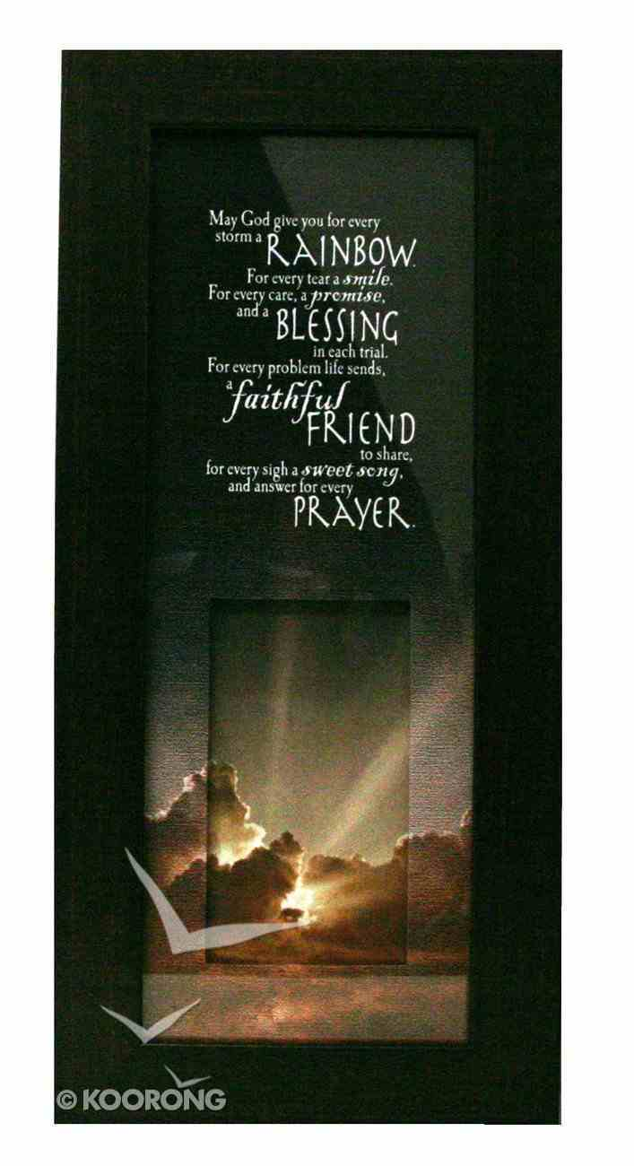Life in Focus Mdf Framed Art: May God Give You Plaque