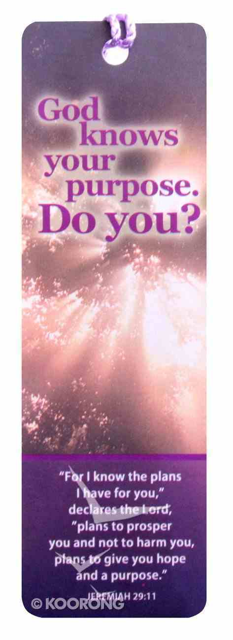 Bookmark With Tassel: God Knows Your Purpose. Do You? Stationery