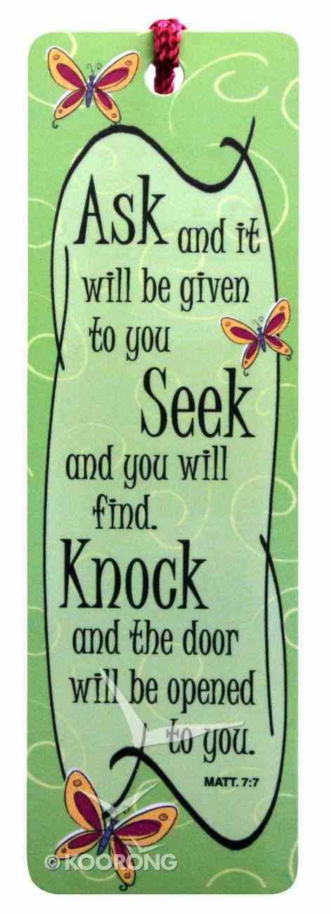 Bookmark With Tassel: Ask.. Seek.. Knock.. Stationery