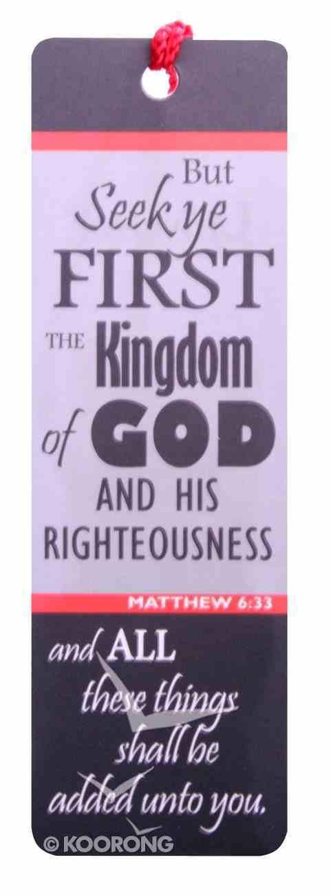 Bookmark With Tassel: Seek Ye First the Kingdom Stationery