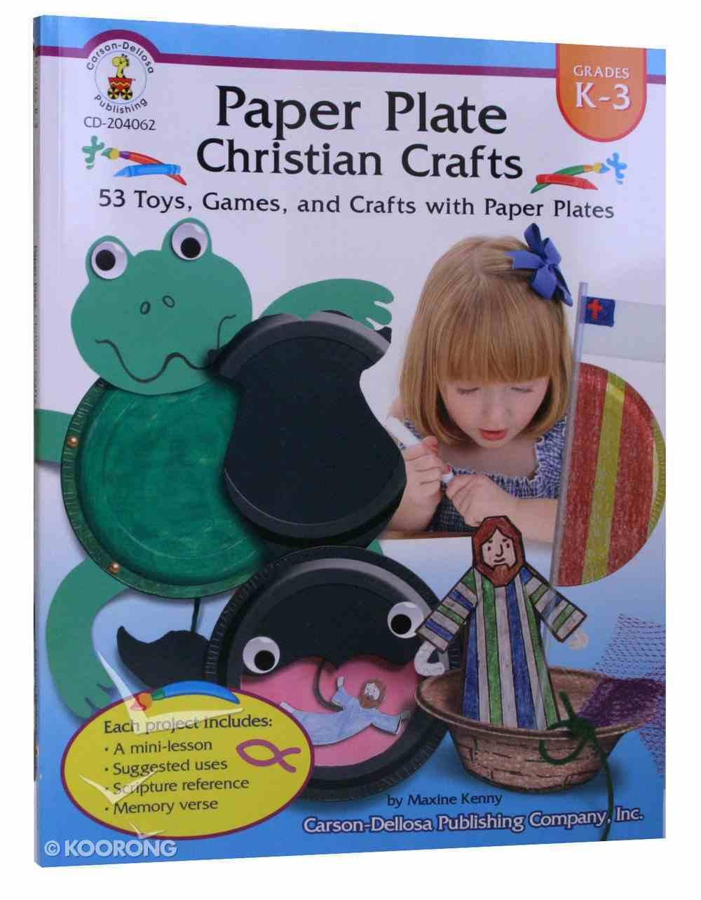 Paper Plate Christian Crafts (K-3) Paperback
