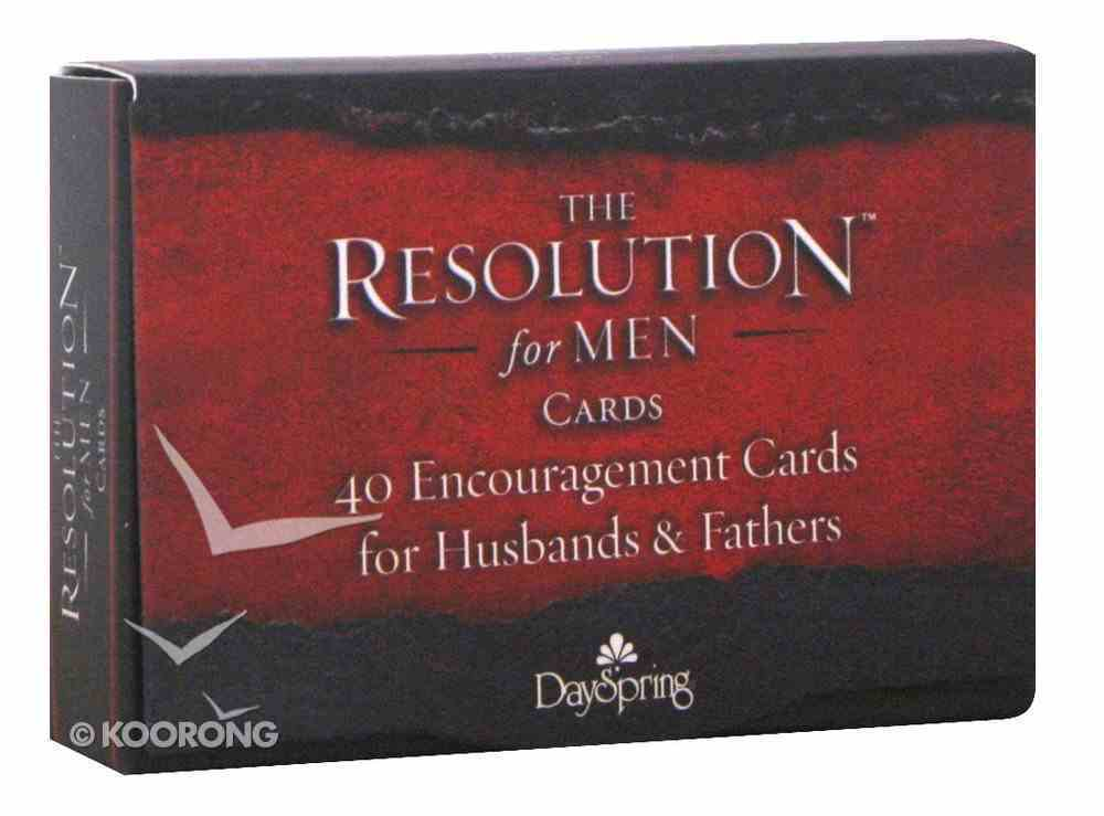 Courageous: The Resolution Daily Encouragement Cards For Men, 40 Cards Stationery
