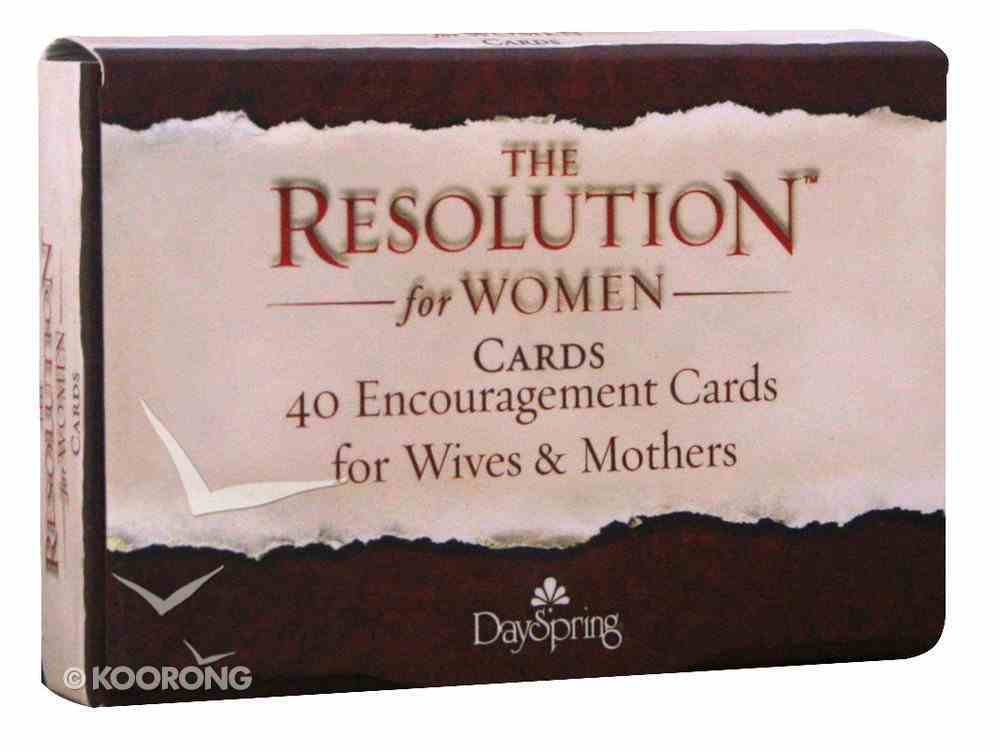 Courageous: The Resolution Daily Encouragement Cards For Women, 40 Cards Stationery