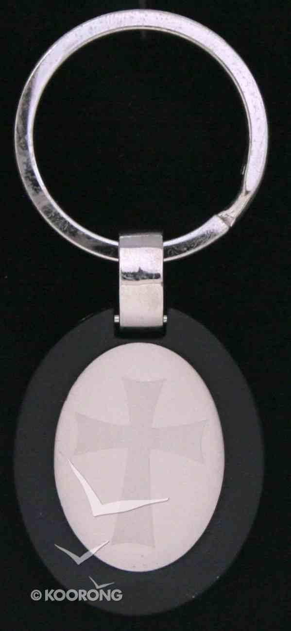 Metal Keyring: Black Cross Jewellery