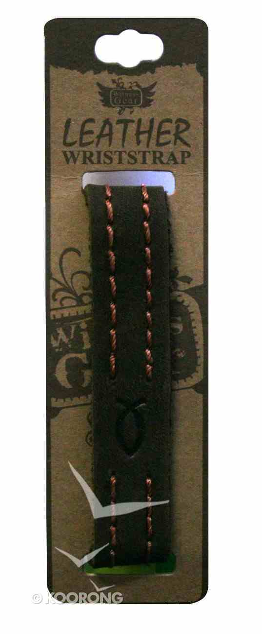 Witness Gear Leather Wriststrap: Fish Symbol Jewellery