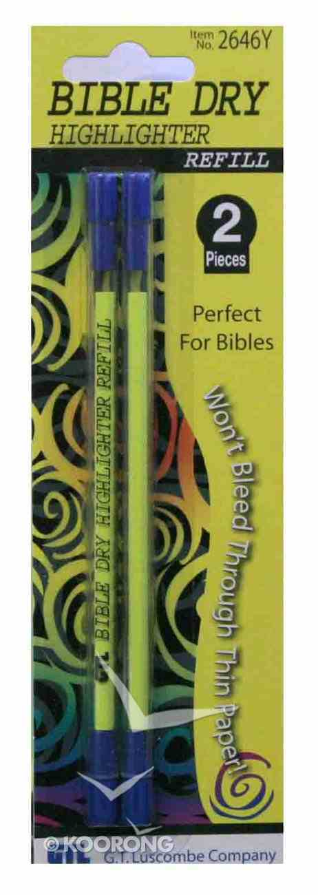 Dry Highlighter Refills 2 Pack Yellow Stationery