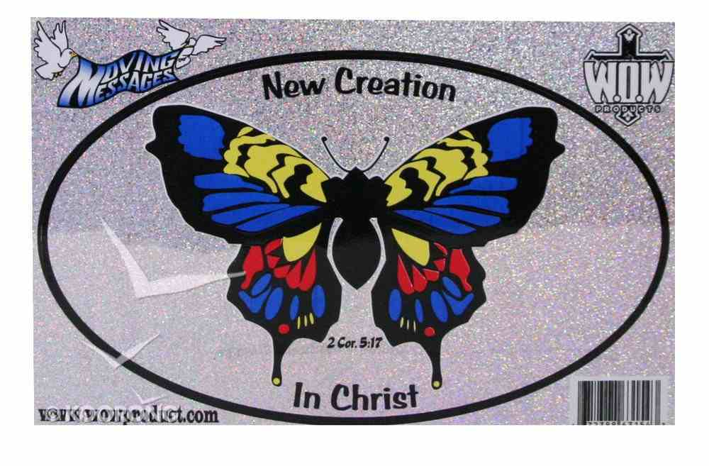 Oval Decals: New Creation in Christ Stickers