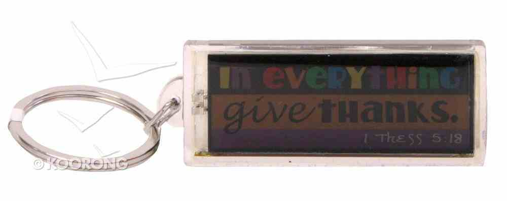 Solar Powered Flashing Lcd Keyring: In Everything Give Thanks Novelty
