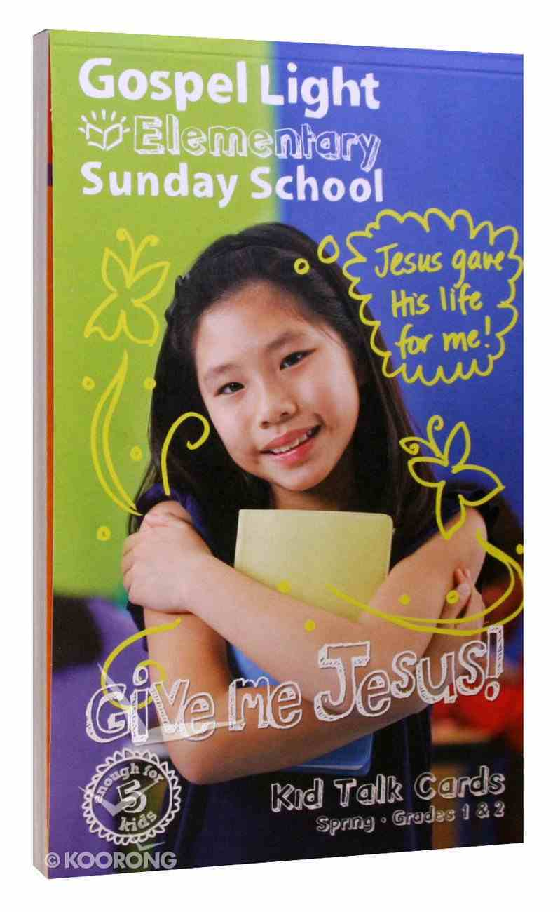 Gllw Spring a 2020 Grades 1 & 2 Student Talk Cards (For 5 Students) (Gospel Light Living Word Series) Paperback