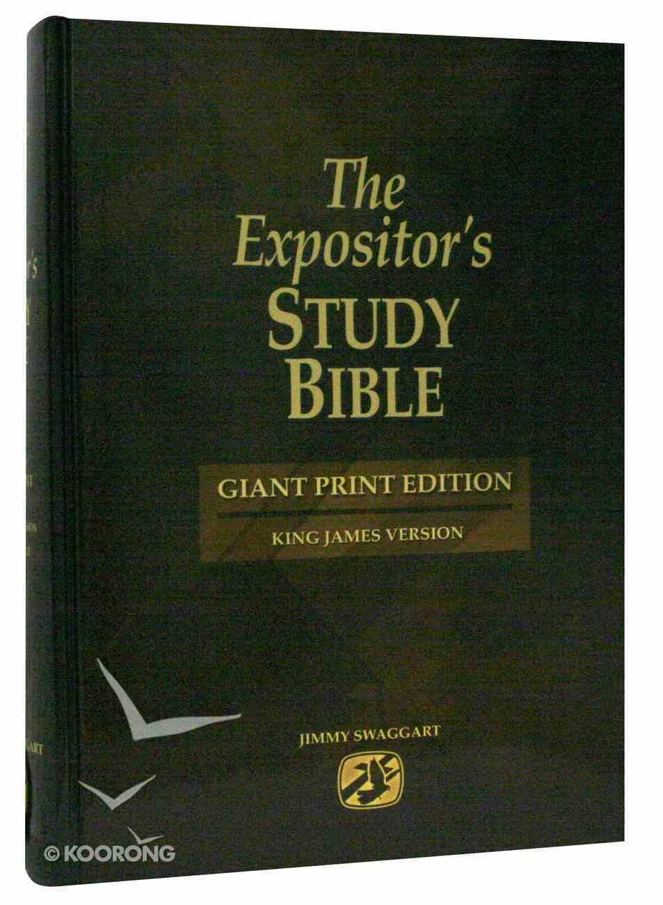 KJV Expositor's Study Bible Giant Print Hardback