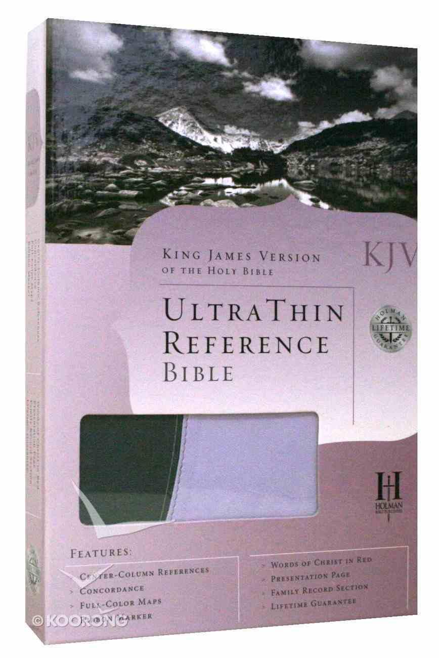 KJV Ultrathin Reference Grey/Periwinkle Duo-Tone Imitation Leather